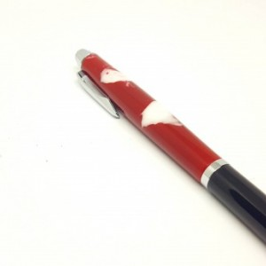 Handcrafted Acrylic Crimson/White Rollester Roller Ball pen
