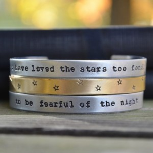 I Have Loved the Stars Too Fondly Bracelet Set