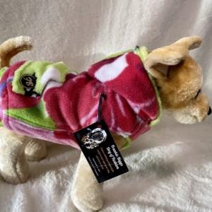 "Pink Flower hoodie XXS 13-14"" girth"