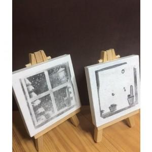 Cactus art,canvas art,season,minimalist,black and white canvas