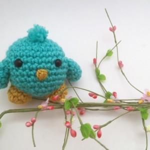 mini amigurumi bird, crochet bird, mini crochet bird, small bird, toddler toy, handmade, crochet birdie, kawaii, bird plush, birthday favor