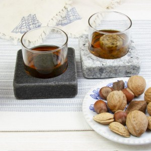 Sea Stones Cool Coaster Set - Whiskey and Scotch Chillers, Freezer to Table, Barware