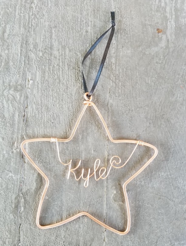 Personalized star ornament