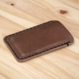 Leather Card Wallet, Chromexcel Leather Card Holder, Horween Leather Slim Wallet, Minimalistic Leather Wallet, Men's Woman's Leather Wallet