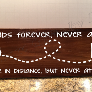 Friends Forever Wood plaque