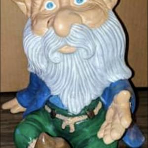 Handpainted ceramic man garden gnome