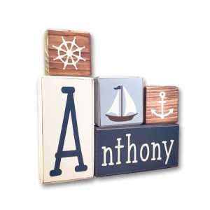 Nautical Nursery - personalized - nautical - wood sign