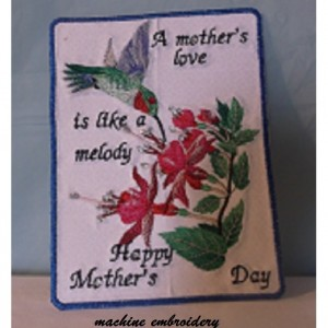 machine embroidery for Mother's Day
