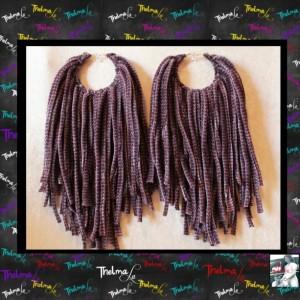 Velour Earrings,custom made earrings,fabric fringe,purple earrings,Handmade Earrings,Long Fringe,Unique Earrings,Lite Weight