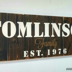 Wood Anniversary Gift | Personalized Family Name Sign | Large Custom Sign | Wooden Name Sign | Last Name Sign | Rustic Wall Decor
