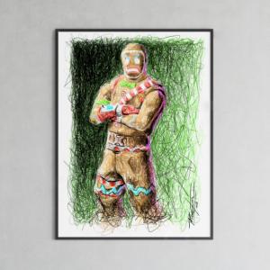 Fortnite's GingerBread Man Print by Pablo Piacentini