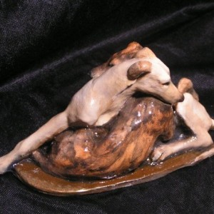 Hevener Collectible Greyhound Dog Figurine