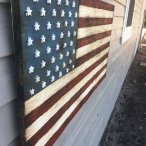 Wood American Flag