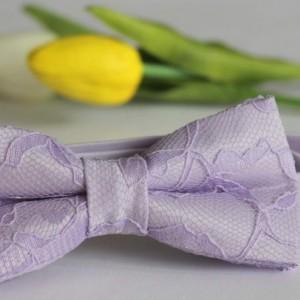 Lavender Men's Bow Tie - Lilac Lace Bow Tie -Lavender Kid's Bow Tie- Lavender Baby Bow Tie