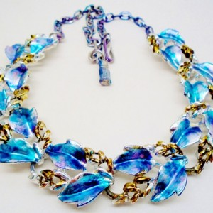Vibrant Hand Painted Vintage Necklace
