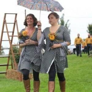 Organic Cotton Bridesmaid Wrap Dress