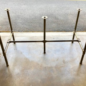 """Black Pipe Table Frame/TABLE LEGS """"DIY"""" Parts Kit, 1"""" x 80"""" long x 28"""" wide x 30"""" tall  -  Custom sizes available in this style table base"""