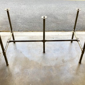 "Black Pipe Table Frame/TABLE LEGS ""DIY"" Parts Kit, 3/4"" x 106"" long x 28"" wide x 40"" tall -  Custom sizes available in this style table base"