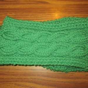 Hand Knit Headband/ Earmuff- Clover