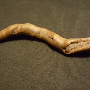 Hand Carved Curvy Wand with Awesome Lines and Character!