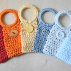 Crochet Towel Holder Rings