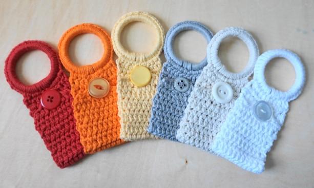 Crochet Towel Holder Rings