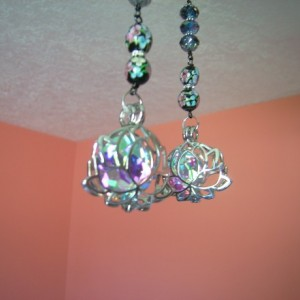 Pull Chains for Ceiling Fans or Lamps - Lotus Flower