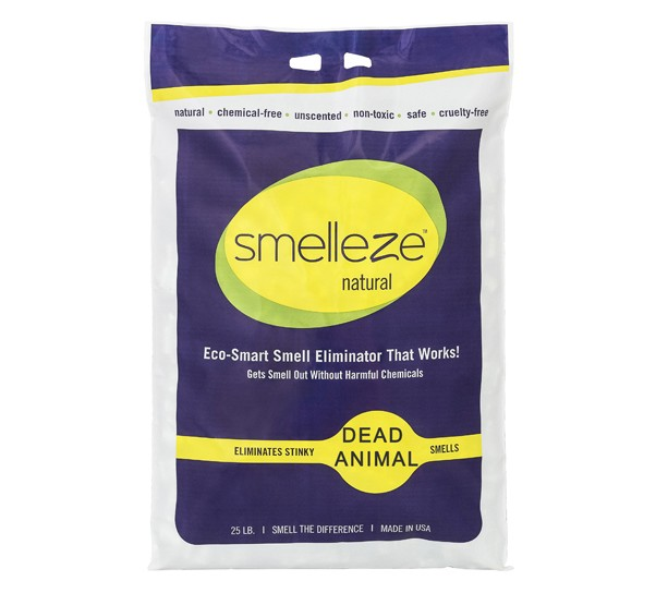 SMELLEZE Natural Dead Animal Odor Removal Granules: 25 lb. Sprinkle in Yard