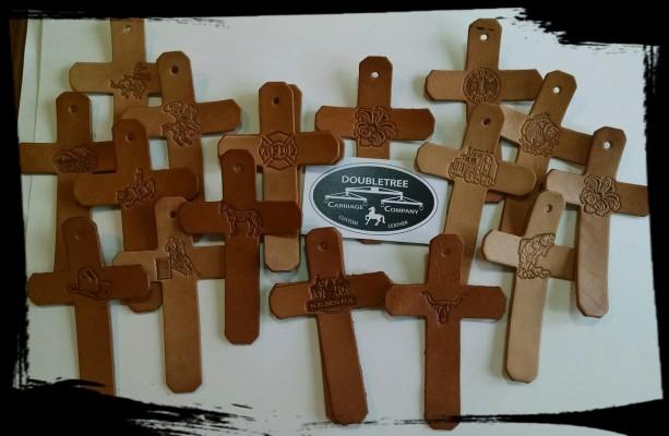 Custom Leather Crosses
