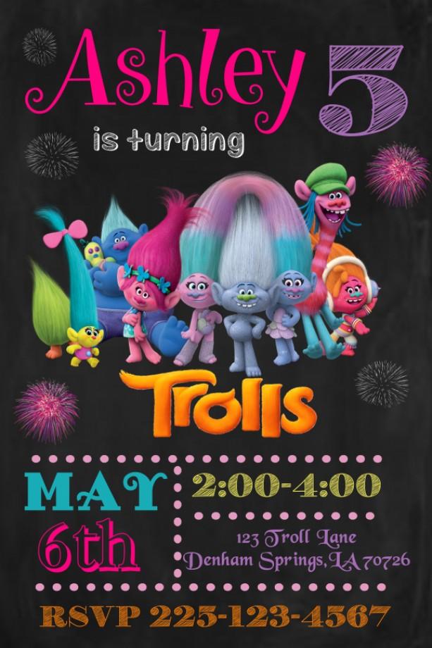 Troll Birthday Invitation