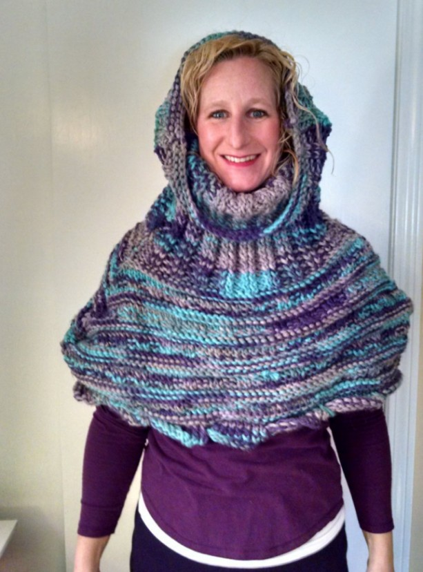 Knitted Snood, Custom Made Hooded Shawl aftcra