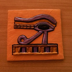 Egyptian Art Eye of Horus Wall Plaque Relief - Magical Protective Symbol