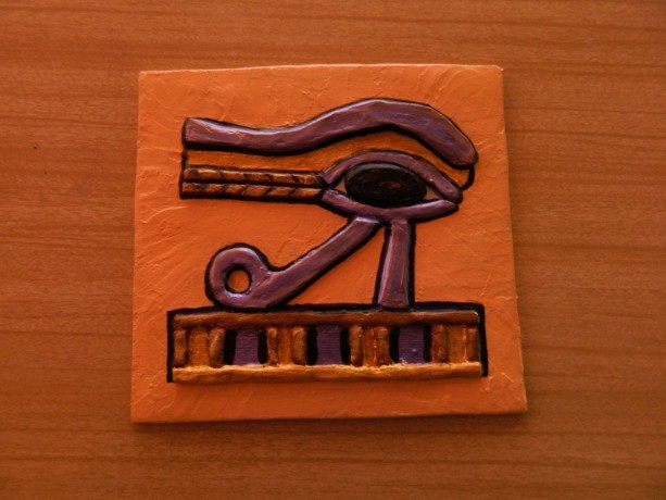 Egyptian Art Eye of Horus Wall Plaque Relief - Magical Protective Symbol