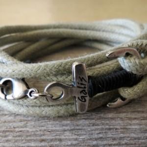 Men's Bracelet - Men's Anchor Bracelet - Men's Jewelry - Men's Gift - Sailor Gift -  Boyfriend Gift - Husband Gift - Present For Men - Male