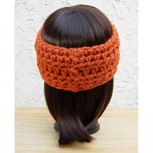 Women's or Men's CROCHET HEADBAND Ear Warmer Solid Pumpkin Orange Thick Chunky Warm Winter Wool Simple Basic Knit Autumn Fall Head Band, Ready to Ship in 3 Days