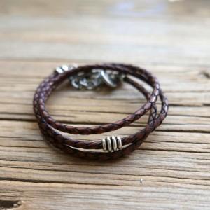 Men's Bracelet - Men's Beaded Bracelet - Men's Leather Bracelet - Men's Jewelry - Men's Gift - Boyfriend Gift - Husband Gift - Male Bracelet