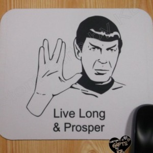 Spock Live Long and Prosper Mouse Pad, Christmas Gift, Anniversary, Birthday Gift, Star Trek, Spock, Geek gift, Custom Mouse Pad, Computer
