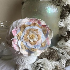 Pastel Shabby Chic Floral Brooch