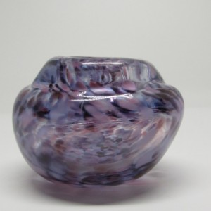 Small Handmade Purple, White, Pink Glass Vase