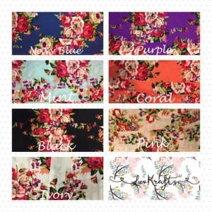 Set of 10 Bridesmaid Robe- Bridesmaid Gift Robe, Floral Cotton Robes- Maid of Honor gift-Bridal Party Gift-Get Ready Robe
