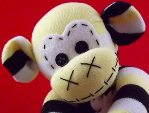Sock monkey :Julian ~ The original handmade plush animal made by Chiki Monkeys