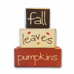 Fall Decor - leaves - Fall - wood sign