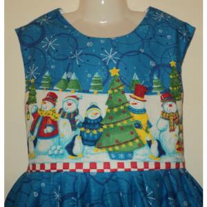 NEW Handmade M&M Happy Millennium Border Jumper Dress Custom Sz 12M-14Yrs