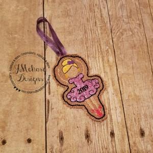 Buy 3 Get 1 Free Custom Embroidered Christmas Ballerina Ornament