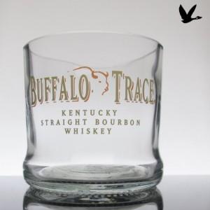 Buffalo Trace Whiskey Upcycled Glass Tumbler