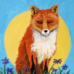 """Well Hello Mr. Fox"" original painting"