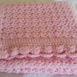Baby Blanket Crochet Afghan  Handmade