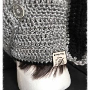 Knight Hat / knight Helmet / grey and black