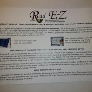 Read E-Z book cover/holder in Coffee Break fabric