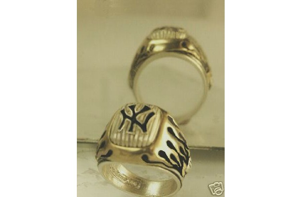 New York Yankees Bronx Bombers sterling silver flame ring